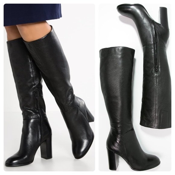 cc97e51bf49 Kenneth Cole | Justin Leather High Heel Knee Boot